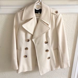 MODA International cream pea coat.